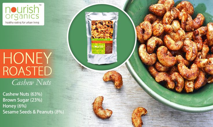 A splendid blend of honey roasted cashew nuts and sesame seeds! Delicately sweet yet crunchy packed with energy, antioxidants, minerals and vitamins essential for robust health!
