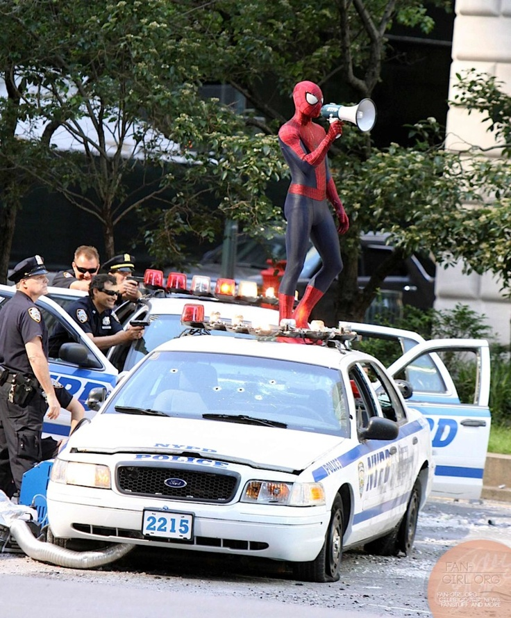 The Amazing Spider-Man 2 clash between Rhino and Spider-Man