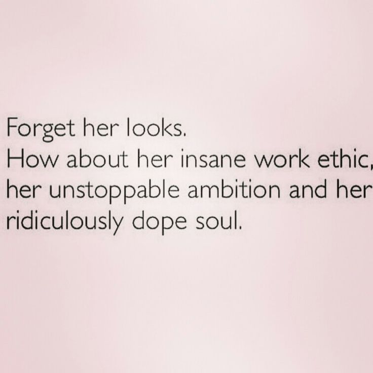 Forget her looks.