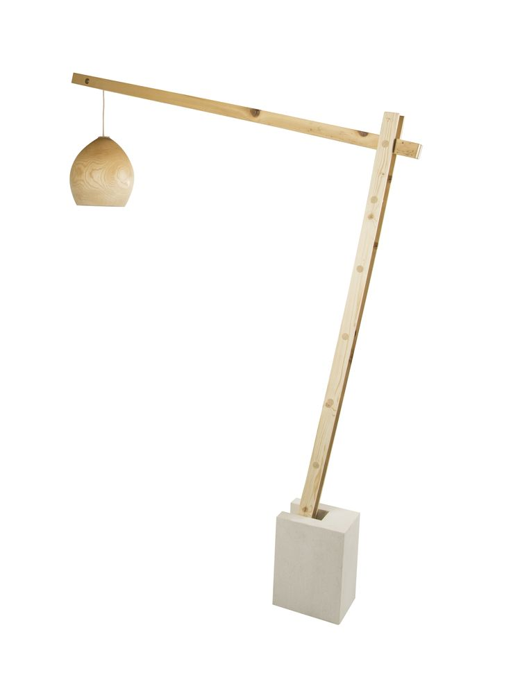 The GRU base and structure allows you to turn any suspended lamp by Ri-Novo into a floor lamp that can be placed in your favorite room. The stone base makes it safe and precious while the supporting structure, made of old reclaimed wood, recalls the shape of seaport cranes. The steel cable allows you to vary the height of the light source so as to adapt it to any environment. #nature #wood #rinovodesign #objects #home #design #naturaldesign #gru #piantana #lampada #oggettioriginali