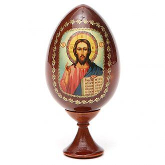 Christ Pantocrator egg icon   online sales on HOLYART.co.uk