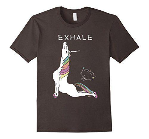 Yoga : Unicorn - Exhale T-Shirt - Funny T shirt