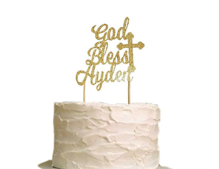Excited to share the latest addition to my #etsy shop: Baptism Cake Topper - Christening Cake Topper - God Bless Cake Topper - Baptism Decor - Communion Cake Topper - Religious personalized #papergoods #caketopper #topper #party #boy #girl #baptism #christening #godbless
