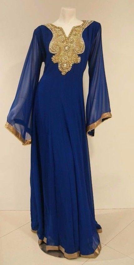 ELEGANT Moroccan Arabian Caftan Farasha Dress Islamic Abaya Jilbab Kheleeji 3107 #sudham #Cocktail