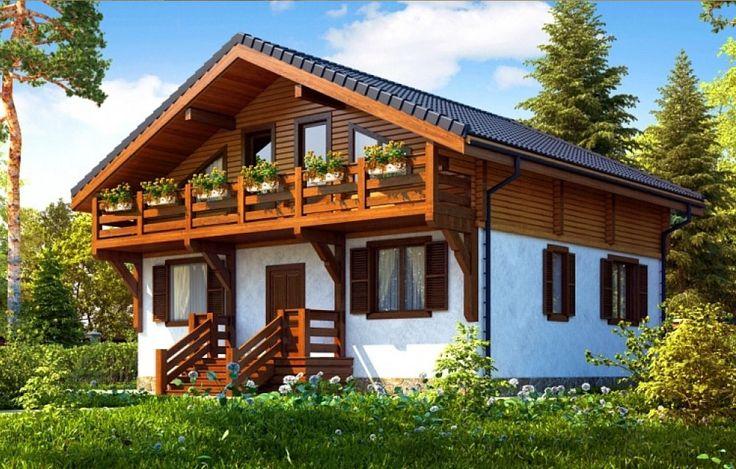 Комбинированный дом кирпич + профилированный брус площадью 225 кв.м. Производим профилированный брус. Строим дома.