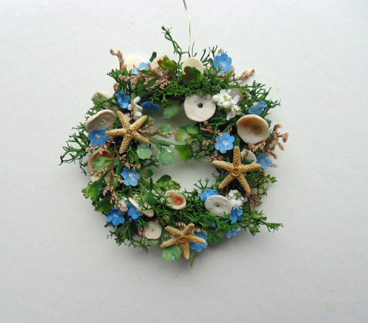 Sea Life Miniature Wreath Reserved for Katy's Selection by 4hala