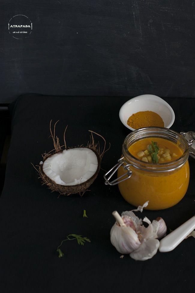 Atrapada en mi cocina: CREMA DE ZANAHORIA, TOMATE Y LECHE DE COCO