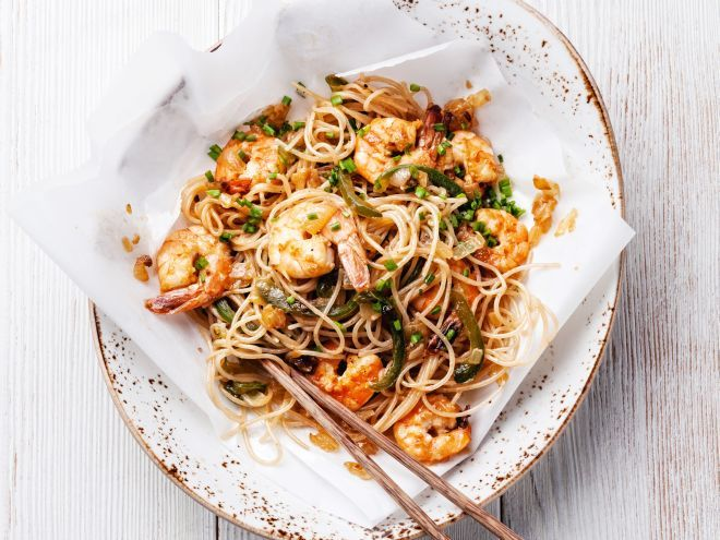 ricette-dieta-noodle-piccanti-ai-gamberi
