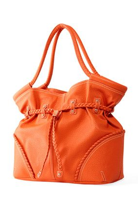 I love handbags!. I've never had one in orange but this one from Nine West looks like a winner.