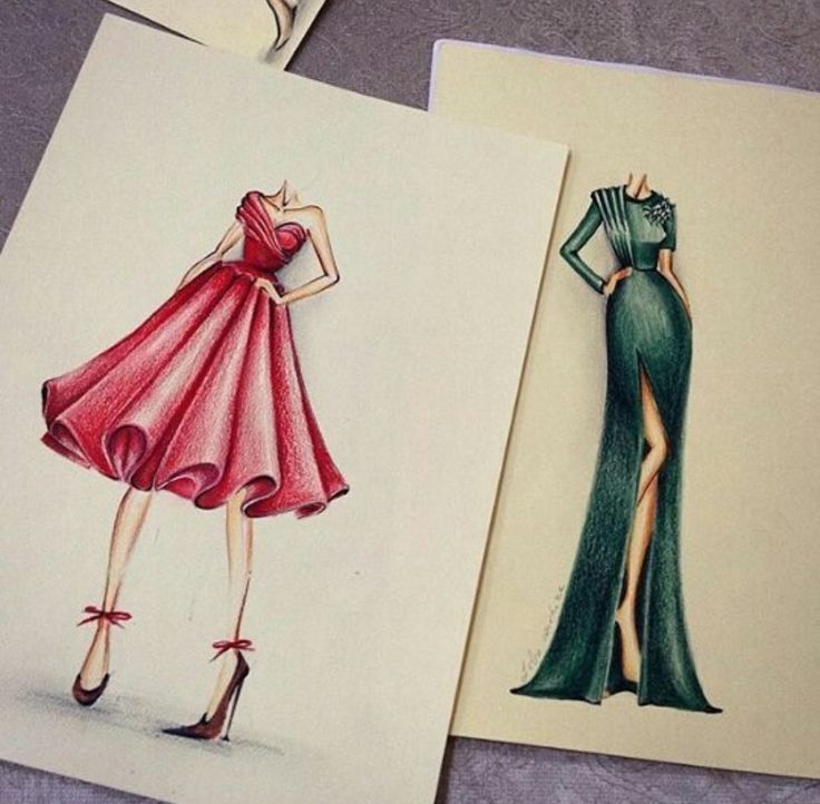these sketches bring me to my adolescence, when designing evening dresses ❤