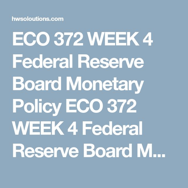 """ECO 372 WEEK 4 Federal Reserve Board Monetary Policy ECO 372 WEEK 4 Federal Reserve Board Monetary Policy ECO 372 WEEK 4 Federal Reserve Board Monetary Policy ECO 372 WEEK 4 Federal Reserve Board Monetary Policy  Write a 500 to 750 word paper which addresses the following:  It is the general consensus among economists that the Federal Reserve Board """"saved"""" the U.S. economy from experiencing a second """"Great Depression"""" by pursuing an expansive monetary policy after the market crash of…"""