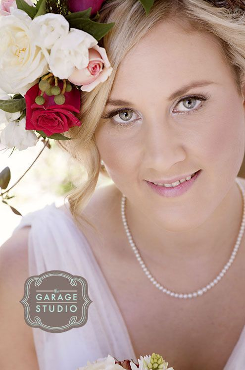 Beautiful Vintage style wedding photography - we love the brides flowers too!