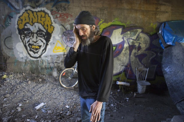 Homeless Joe as he likes to be called stands in front of his handmade shelter in Toronto. Joe, a.k.a. Real Leclair, was recently approved for disability funding which will allow him to find a home of his own.     Click to read the entire Toronto Star article.