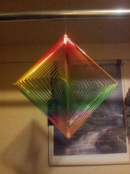 Rainbow Trangle Decration