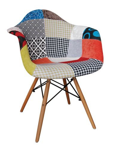 armchair pp patchwork fabric