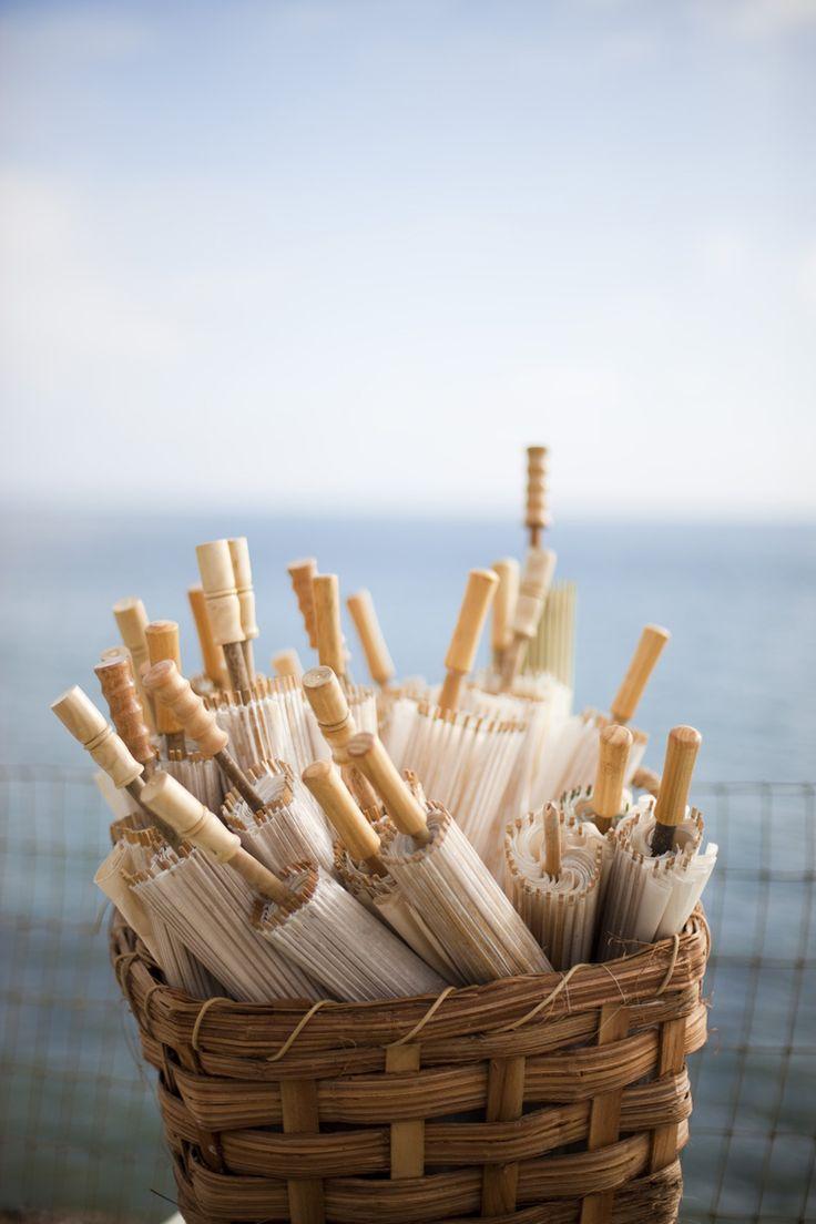 pics of rustic beach weddings | ... rustic elegant outdoor-beach wedding ceremony - umbrellas