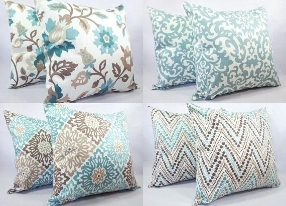 Throw Pillows For Brown Couch Inspiration Ideas Blue And Brown