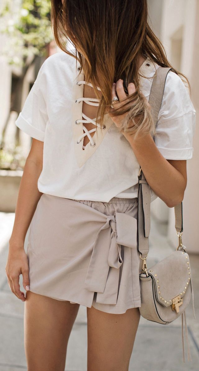 Love the lace up top!