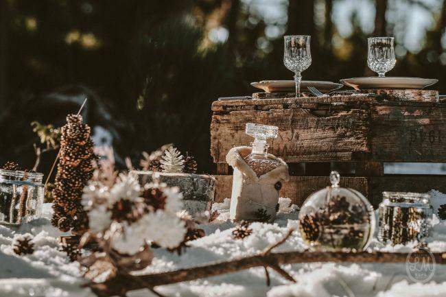 Une inspiration romance en montagne pour un mariage en hiver Image: 19