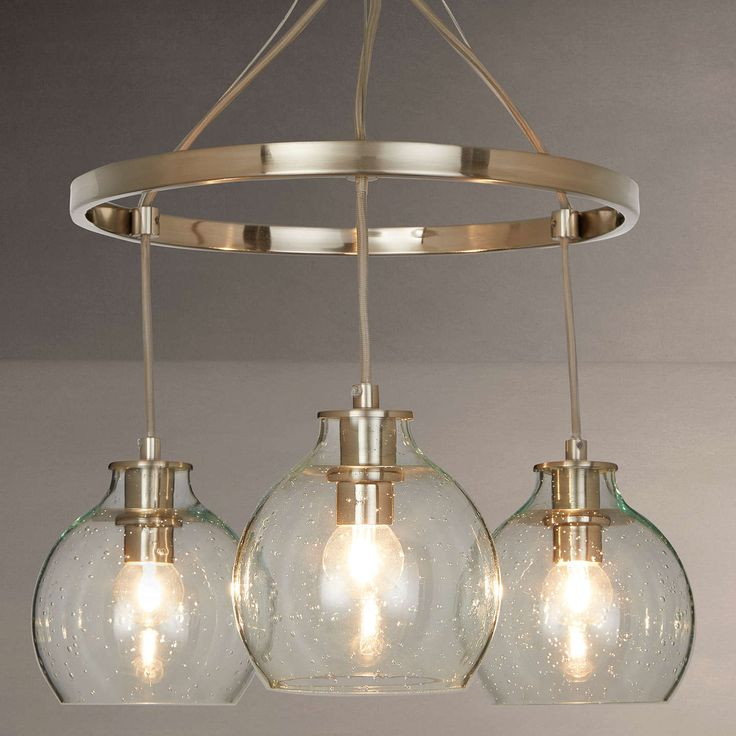 Croft Collection Selsey Semi Flush, 3 Pendant Ceiling