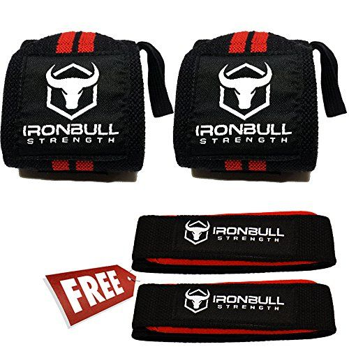 Iron Bull Strength Wrist Wraps & Lifting Straps Combo - Wrist Wraps & Lifting Straps Bundle for any Workout! Maximize Your Potential and Lift Heavier Weights Injury Free! - Can't lift heavier weights because your wrists are giving out or they hurt? - Sick of wraps too short or coming off under pressure? - Tired of cheap wraps and straps cutting off yo...