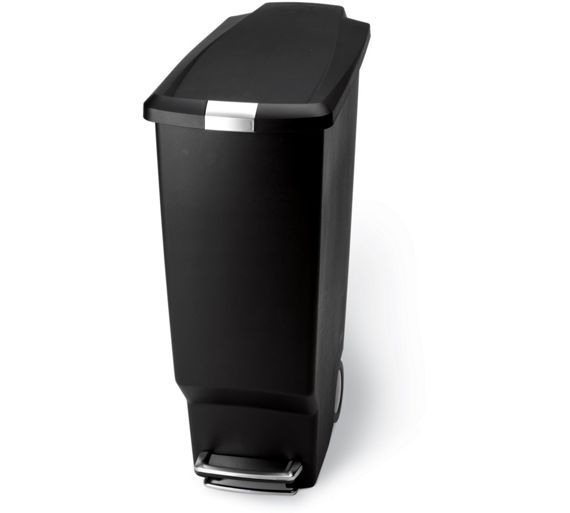 Buy simplehuman 40L Slim Plastic Pedal Bin - Black at Argos.co.uk, visit Argos.co.uk to shop online for Kitchen bins, Kitchenware, Cooking, dining and kitchen equipment, Home and garden
