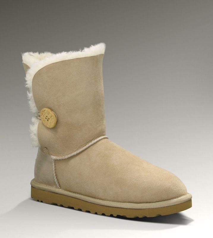 uggs Short Bailey Button Boot Women Sand
