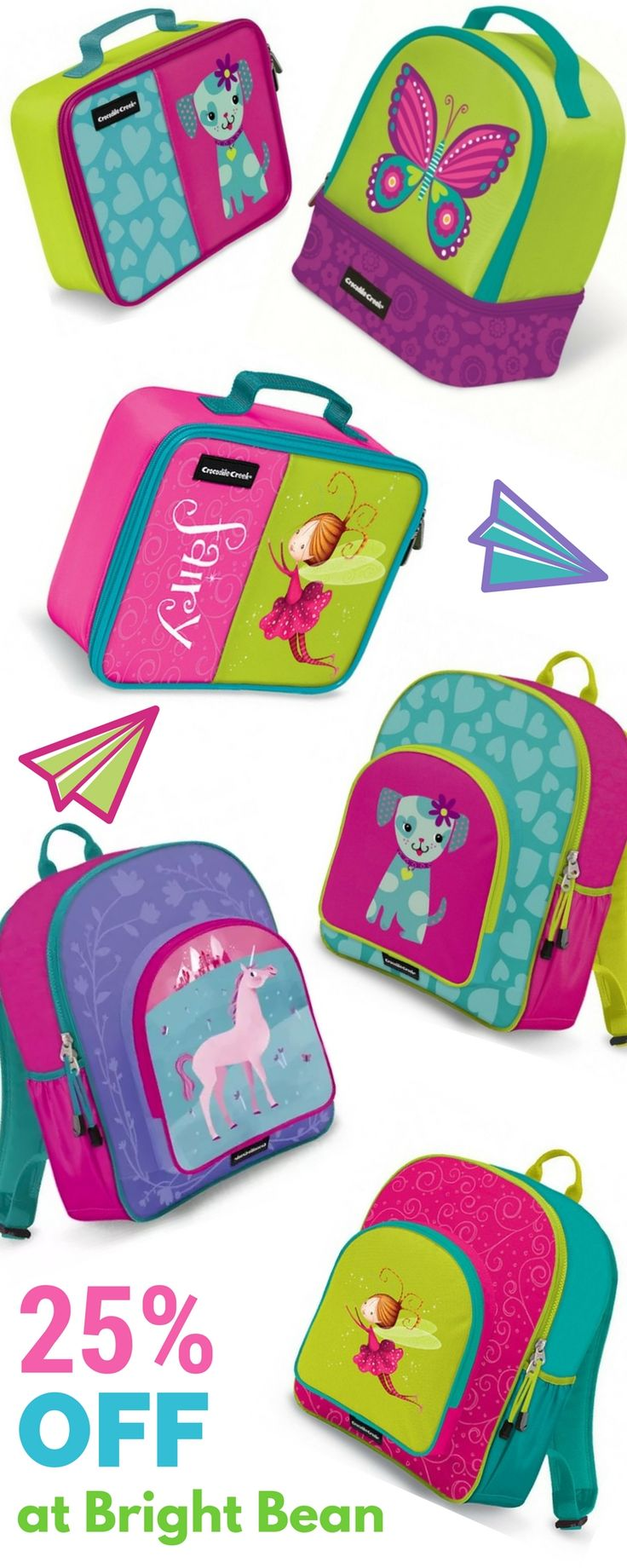 25% off Crocodile Creek Backpacks and Lunch Items for the Little Ones @ Bright…