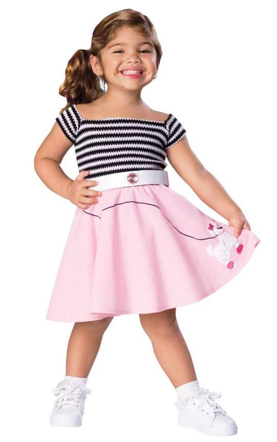 Foster's Fun Shop - 50's Girl Toddler Costume, $17.99 (http://www.fostersfunshop.com/50s-girl-toddler-costume/)