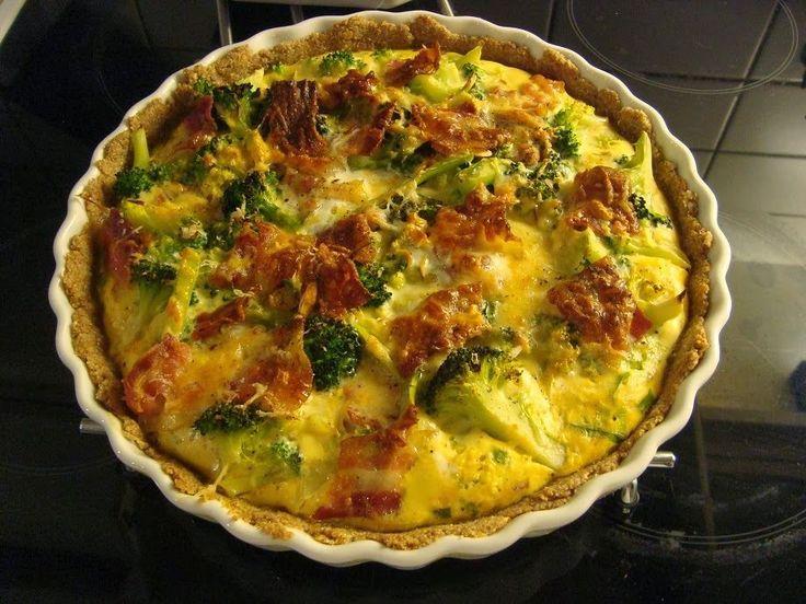 Lise på SU: Grov tærte med broccoli, bacon, mandler og parmesan