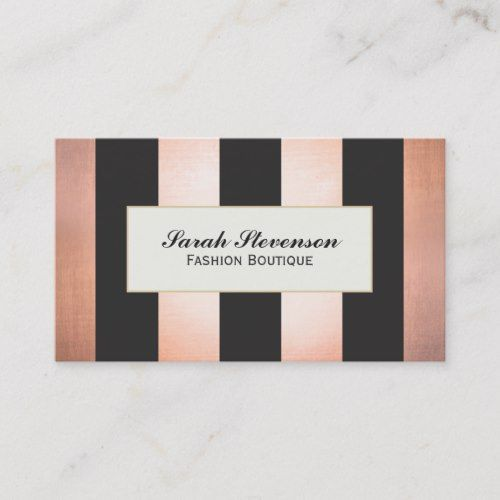 Bold and Glamorous Fashion Boutique Designer Business Card   – BEAUTY SALON Business Card Templates
