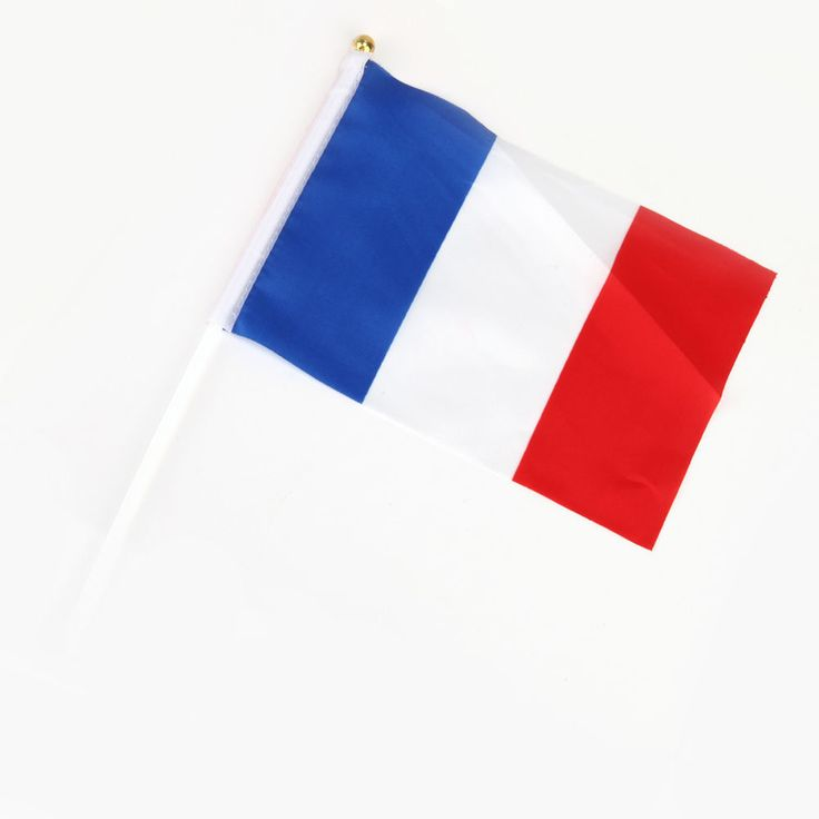 France Hand Waving Flag with pole - French National Flag -  Free UK P&P  | eBay
