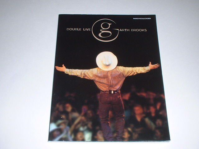 Garth Brooks Double Live Concert  Songbook/Sheet Music Piano/Vocal/Chords $5.99 buy it now