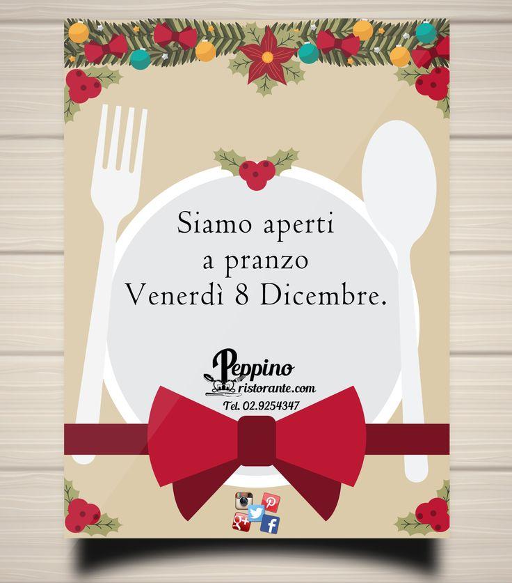 Vi aspettiamo a pranzo Venerdì 8 Dicembre :) #8dicembre #pranzo #peppinocarugate #peppinoristorante #saicosamangi #carnikmzero #salumidellacascina #dolcihomemade #pastafresca #maialinoalforno