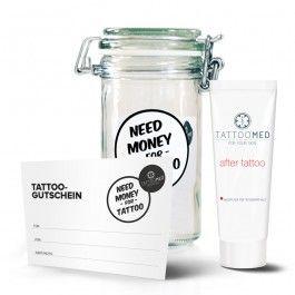 TattooMed® Tattoo Spardose small + gutschein +  25ml tube