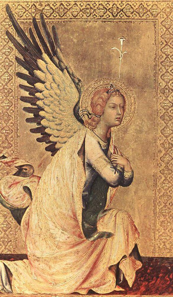 SIMONE MARTINI (1285 -1344) -   The Angel of the Annunciation - 1333. Koninklijk Museum voor Schone Kunsten, Antwerp.