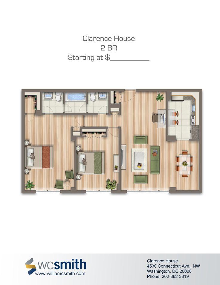 1000 images about maison 3d on pinterest bedroom - Washington dc 1 bedroom apartments ...