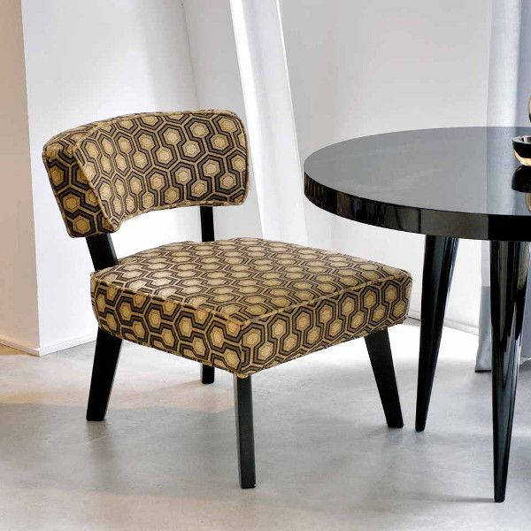 Dom Edizioni Armchair Nicole fabric Small armchair with not removable cover