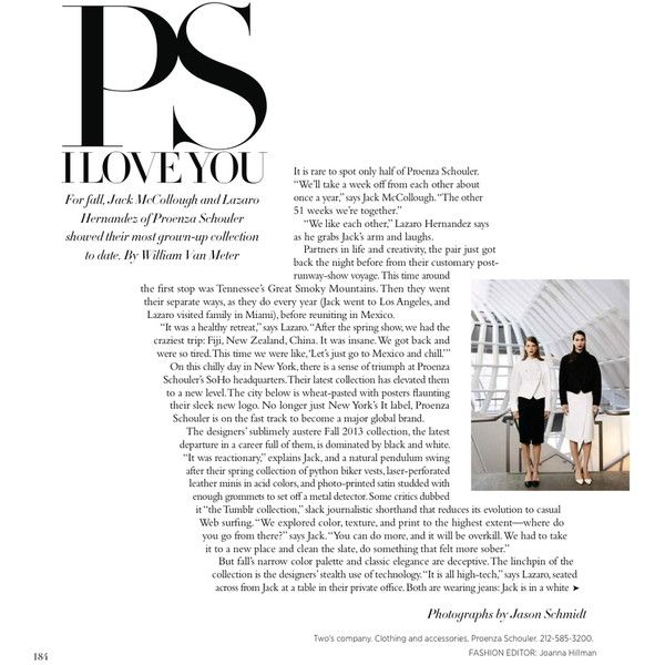 Harper's Bazaar Editorial PS I Love You, July 2013 - MyFDB ❤ liked on Polyvore featuring text, articles, backgrounds, words, magazine, fillers, quotes, editorial, headline and phrase