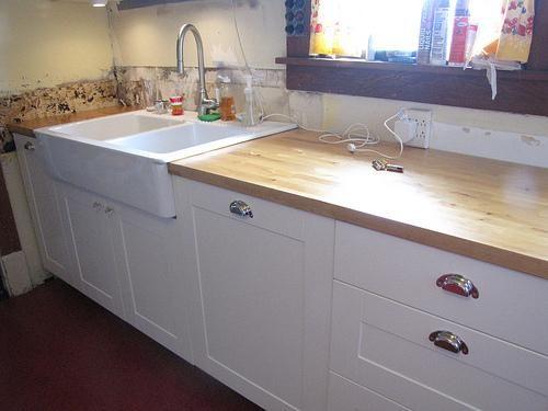 Ikea Butcherblock Countertops With Farmhouse Sink