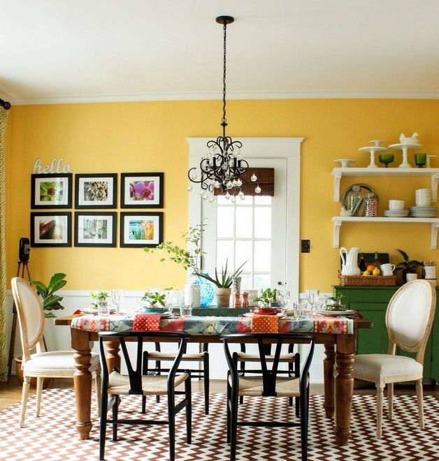 25+ best ideas about Yellow Dining Room on Pinterest | Yellow ...