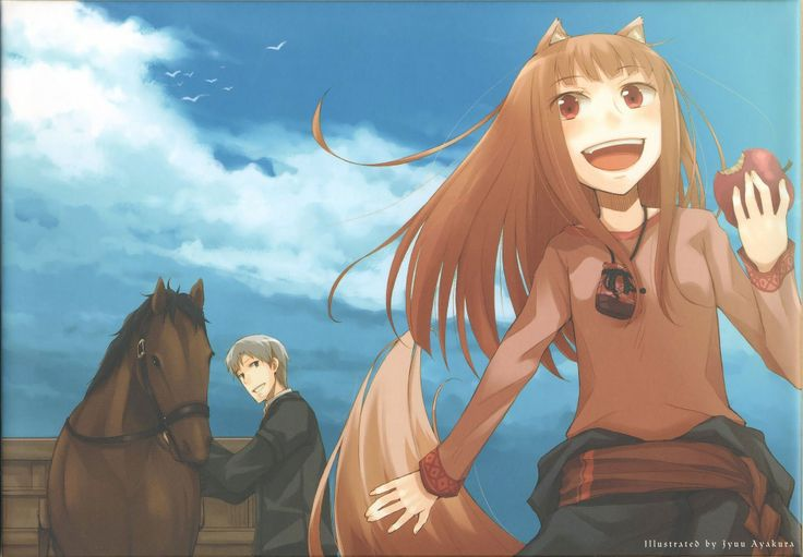 Brunettes Spice And Wolf Animal Ears Red Eyes Craft Lawrence Open Mouth Gray Hair Holo The Wise Wallpaper