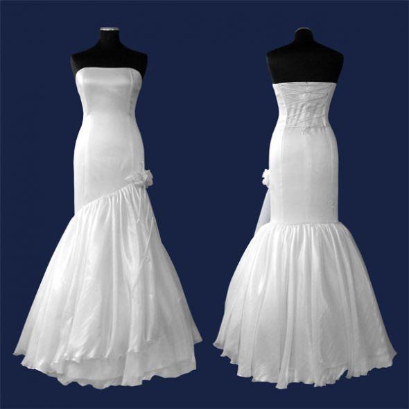 Suknia ślubna RYBKA Szycie na miarę sukni ślubnych   Cena: 350,00 zł  #sukienkaslubna #suknianamiare #szyciemiarowe #szyciesuknislubnych #sukniaslubnarybka