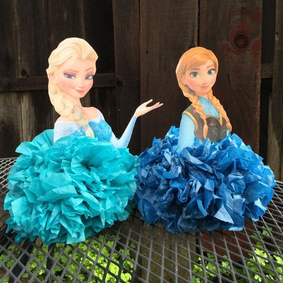 Elsa and Anna Centerpiece Frozen by PreciousPaperMakings on Etsy