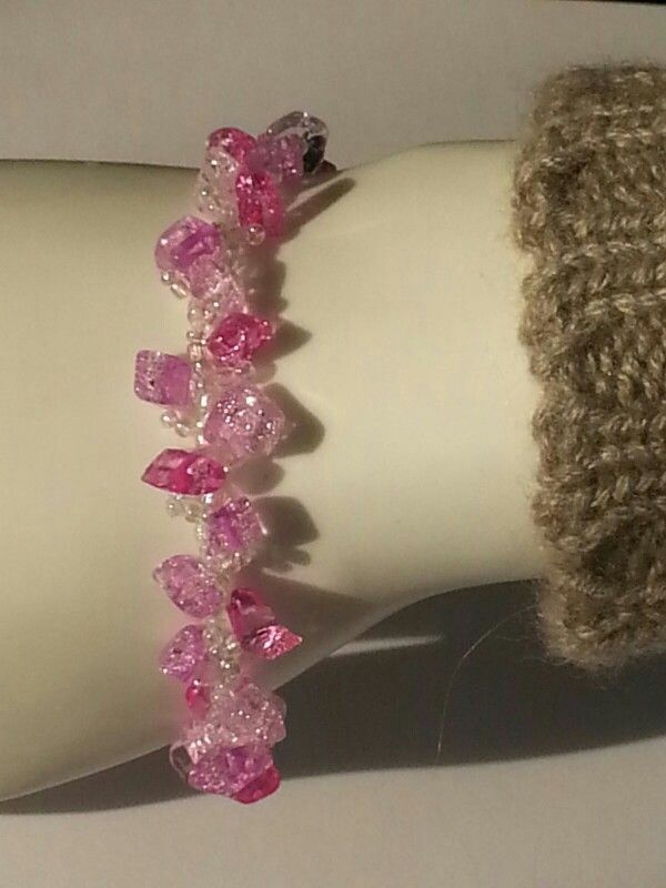 Bracciale Pink stars flakes