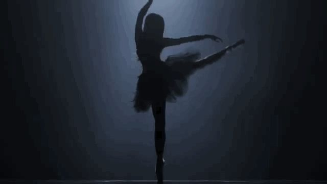 She can do a beautiful arabesque en pointe situation which is so pretty that it's almost unreal: