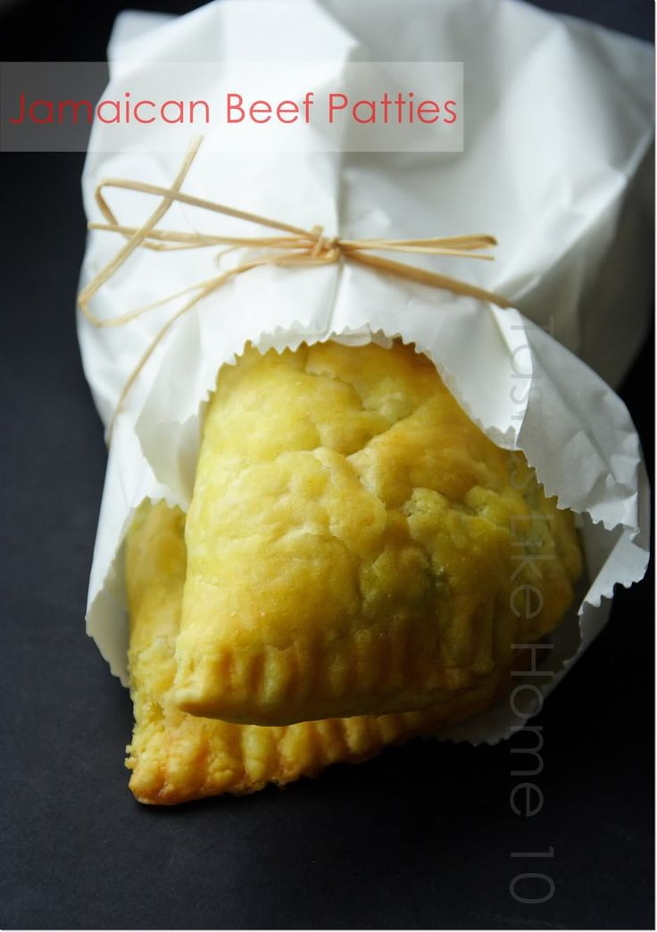tastes like home: Love at first bite - Jamaican Beef Patties!