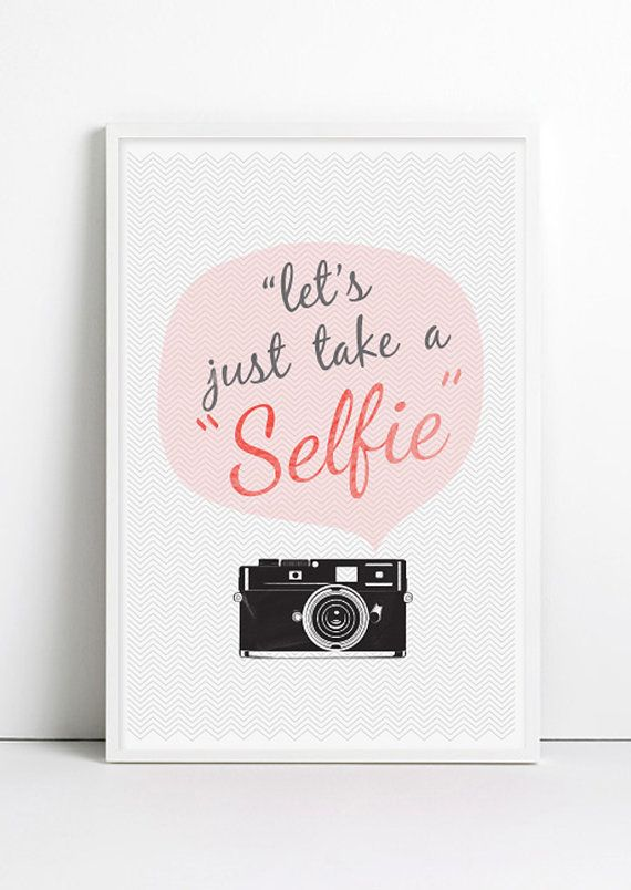 Fashion Retro Vintage Camera Chevron Quote Selfie poster Chalkboard Shabby Chic Trendy French Paris Home Decor Pink Wall art handwritten art...