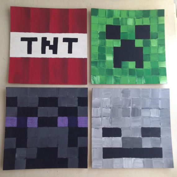 Minecraft game Mob Face Bulletin Board For kids' rooms!