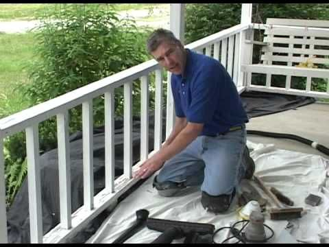 Prep Before Painting Repainting A Porch Or Deck